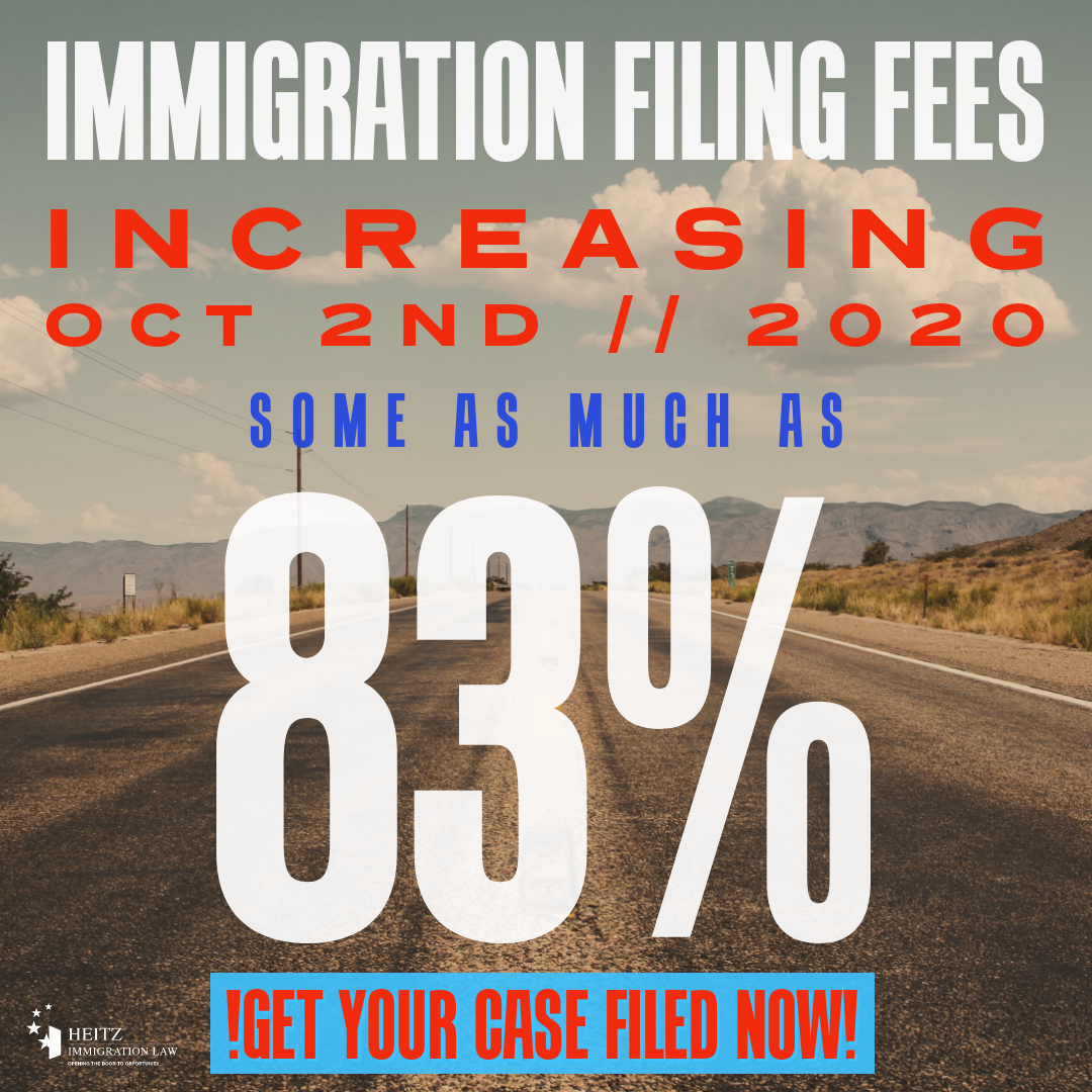 USCIS Increases Filing Fees, Why Are Some So High?